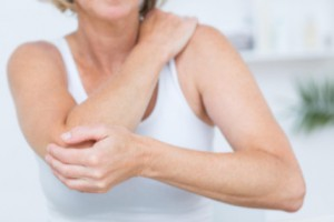woman with shoulder-elbow pain