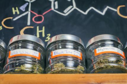 medical cannabis jars