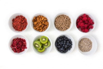 bowls of healthy foods
